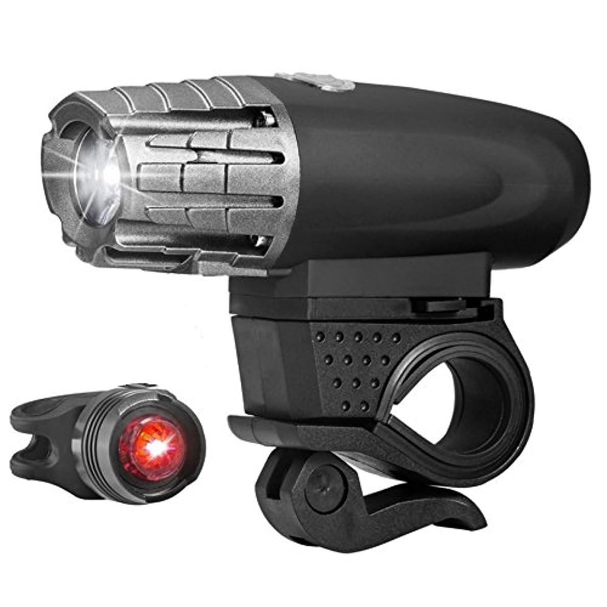 忠実な関連付ける証明L'infini 自転車ヘッドライト USB充電式 テールライト付き
