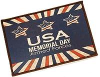 【Woliwowa】 玄関マット ビンテージ風 おしゃれな USA 星条旗風 デザイン [並行輸入品]