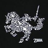 ゼルダの伝説 リンク&エポナ コラージュ Tシャツ-Lサイズ [並行輸入品]