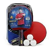 Crossway Advantage Indoor Table Tennis Bundle Racket:2Player Set (2 Rackets/Paddles and 3 Balls)