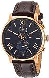 [トミーヒルフィガー]TOMMY HILFIGER 腕時計 ALDEN ブルー文字盤 ブラウン革 クォーツ 1791308 メンズ 【並行輸入品】