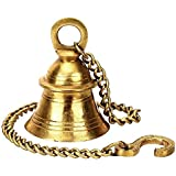Blessings Decor Brass Hanging Bells with Chain for Home Mandir Temple Living Room Decoration Pooja Decorative Items Door Ding