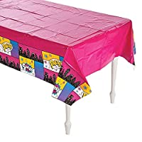 Plastic Superhero Girl Tablecloth - Size 54 x 108 by Party Supplies