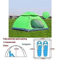 自動ポップアップアウトドアファミリーキャンプのテント1つの2 3 4人複数モデルイージーオープンキャンプテントウルトラライトインスタントシェード ZASUBC (Color : Orange Green 1 2 man)