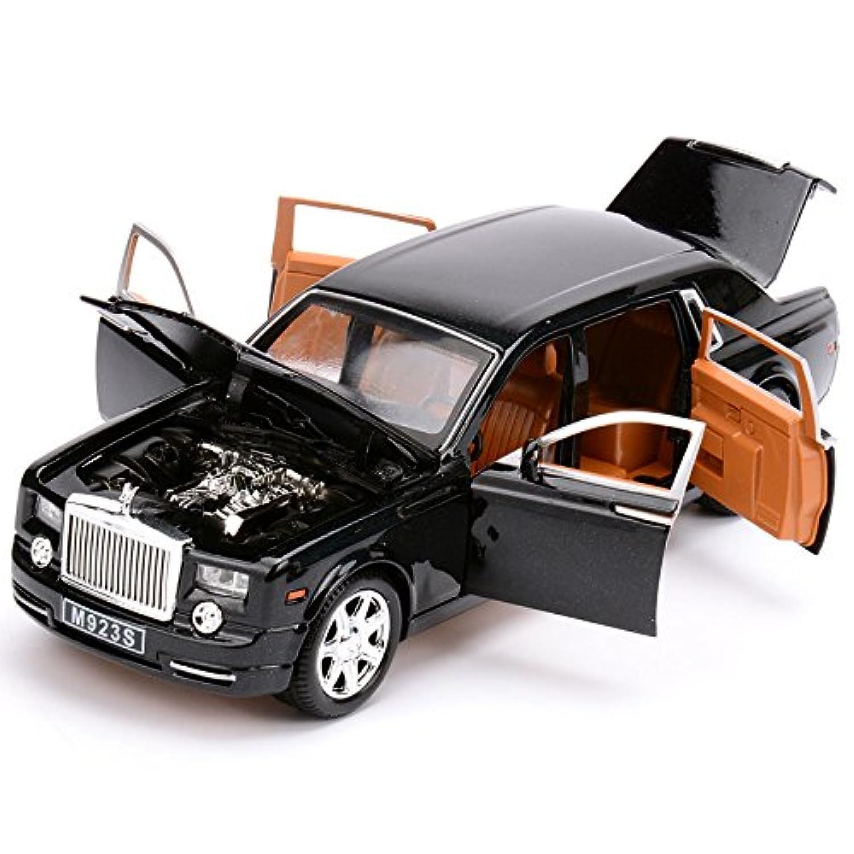 最高峰 ダイキャストカー Rolls Royce PHANTOM ロールスロイス ファントム 1/24 黒 ブラック [並行輸入品]