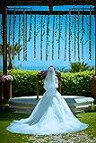 レディース ウエディングドレス ウェディングドレス スレンダーライン/エンパイアライン/ビスチェロング引き裾ドレス /結婚式/二次会/パーティー/花嫁ドレス (S)
