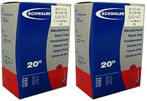 SCHWALBE(シュワルベ) 20×1.10/1.50、20×11/8(406)用チューブ 仏式バルブ 6SV 2個セット 【並行輸入品】