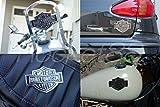 ハーレーダビッドソン  メタル エンブレム ステッカー 特大サイズ Harley-Davidson 自動車 バイク スケボー 自転車などにも