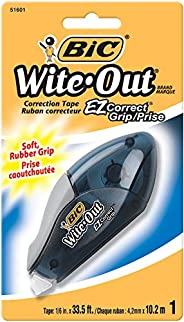 BIC 751601 Wite Out EZ Grip Correction Tape With Grip For Added Control - Pack of 1 Correction Tape
