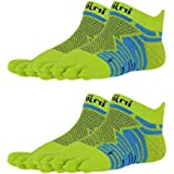 Injinji Unisex Ultra Run No-Show Toesocks Bundle (2 Pack)