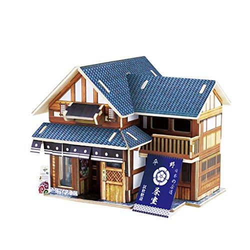 3QMart 3D立体パズル 日本の建物 茶番 26ピース [並行輸入品]