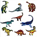 〔24UNIVERSE〕 たくさん選べる ワッペン 恐竜 アイロン セット 大きい 男の子 アップリケ おしゃれ キャラクター 刺繍 こども