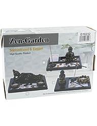 Mstechcorp Tabletop Incense Burner Gifts & Decor Tabletop禅庭キットwith Buddah statute Sand Rocks Candle Holder Rake...