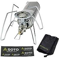 SOTO 限定ステッカー付き レギュレーターストーブ ST-310 収納ケース付き シングルバーナー コンパクトストーブ 折り畳み式 登山 ツーリング ソロキャンプ