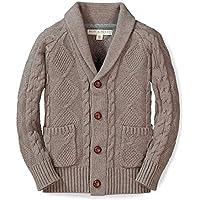 Hope & Henry Boys' Shawl Collar Sweater Cardigan Toggles Made Organic Cotton