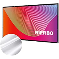 プロジェクタースクリーン 持ち運び 折り畳み式 100インチ 16:9 シワなし 投影用 ホームシアター 会議 映画 スクリーン(34% の光透過率)