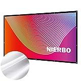プロジェクタースクリーン 持ち運び 折り畳み式 120インチ 16:9 シワなし 投影用 ホームシアター 会議 映画 スクリーン(34%の光透過率)