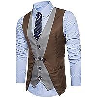 C2S Men's V-Neck Sleeveless Multicolor Slim Fit Casual Dress Waistcoa Top