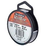 ビーダロン ワイルドファイアー ビーディングスレッド ブラック(WildFire ビーズ用糸) (162T-008)