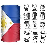 フィリピン 国旗 ヘアバンド バンダナ ネックウォーマー フェイスマスク サイクリング マジックスカーフ UVカット ヘッドバンド 運動ヘッド リストバンド 伸縮性 柔らかい 多機能チューブ型 薄手 伸縮素材 男女兼用 フリーサイズ
