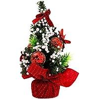 クリスマス装飾ツリー、witspace Merryクリスマスツリー寝室デスク装飾おもちゃ人形ギフトオフィスホームインテリア Home Decal レッド Home Decor