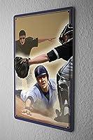 Tin Sign Retro Baseball