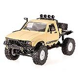 Goolsky WPL C14 1/16 セミトラック RCカー 車 2.4GHz 4WD RCクローラー オフロード ヘッドライトRTR付き 子供 贈り物 ギフト 高いシミュレーション ラジコン バギー