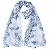 Burmtiz Scarf Women Lady Classical Print Scarves Sun Protection Gauze Kerchief