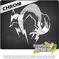 Kiwistar フォックスハウンド Fox Hound 10cm x 10cm 15色 - ネオン+クロム! ステッカービニールオートバイ