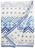 東京西川 毛布 ブルー シングル 軽量 あったか 日本製 マイモデル 冬ニット柄 FQ08050013B