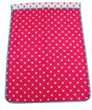 西川産業 babypuff カラフルドットタオルケット 85x115cm レッド 綿100% LFY5001950