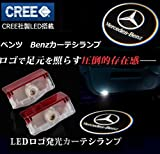 1年間保証!メルセデスベンツ カーテシ #032T LED ロゴライト アンダースポット / ドアライト / カーテシライト 配線不要 / 純正交換タイプ  【適合車種】 Aクラス W176 / Bクラス W246 / Cクラス W205(2015) / Eクラス W212 / GLクラス X166 / GLクラス X164 / MLクラス W166 / Mクラス W166 / C Coupe(Two door) / GLA WLSAUTO保証書付け