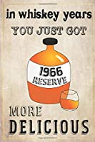 In Whiskey Years You Just Got More Delicious 54th Birthday: whiskey lover gift, born in 1966, gift for her/him, Lined Notebook / Journal Gift, 120 Pages, 6x9, Soft Cover, Matte Finish