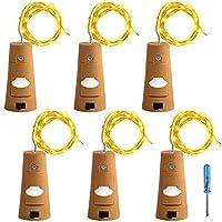 6個セット コルクライト AFUNTA 78インチ / 2 m ナイトライト 文字列ライト ボトルライト LED ライト LEDストリングライト イルミネーション ロマンチック イエロー