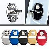 4枚セット 5色選択可 フォルクスワーゲン VW ストライカー カバー ドアロック カバー メッキ 高品質 鏡面ステンレススト Volkswagen 全車種対応 フォルクスワーゲン社外品 (レッド)