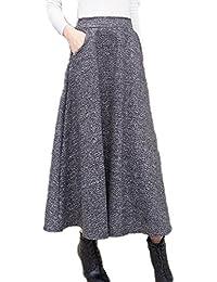 [エムズ ミミ] ロング スカート Aライン フレアー ウール 上品 フェミニン 春 レディース 2色 S~XXL
