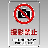 ユニット 透明ステッカー(大) 撮影禁止 807-53A