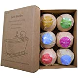RONSHIN Househeld Kitchen Home Daily 6pcs/Set Organic Handmade Bubble Bath Bombs for Women Relaxation & Aromatherapy Best Gifts