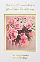 """暖かいCongratulations On Your First Anniversary Greeting Card–1年/1st–""""を共有したのでこのWonderful Year"""""""