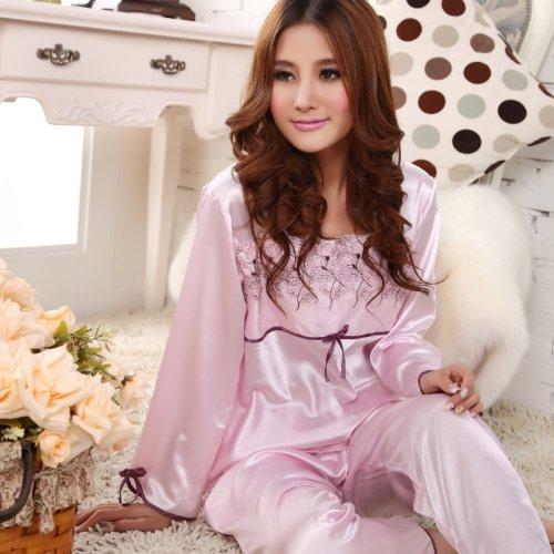 ファッションパジャマ シルク風合 ナイトウエア ルームウエア MR14022(M)