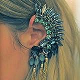 Blue Stone Gold Chains Ear Cuffブルーストーンピアス&イアーカフ片耳用