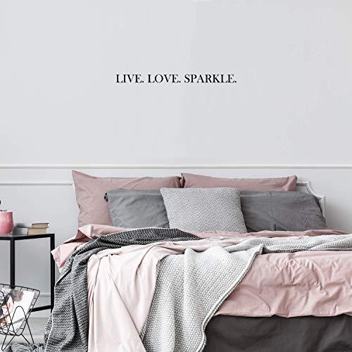 Vinyl Wall Art Decal - Live Love Sparkle - 2