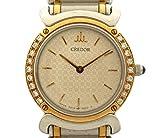 セイコー CREDOR クレドール レディース腕時計 ダイヤベゼル SS×18KT クオーツ アイボリー文字盤 5A70-0210 [中古]