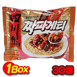 韓国食品 四川ジャパゲッティー 1箱(137gx30個) 韓国風のジャージャーソースが香ばしい 辛口 農心