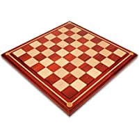 ミッションクラフトAfrican Padauk (ブラッドローズウッド) & Mapleソリッド木製チェスボード – 2.25
