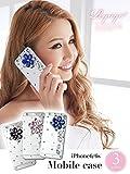 iPhone6/6s jewelryフラワークリアスマホケース【Ryuyu】【リューユ】デコレーションiPhoneケース アイフォン6ケース デコスマホカバー (ブルー/ピンク/パープル)*ry1858-km