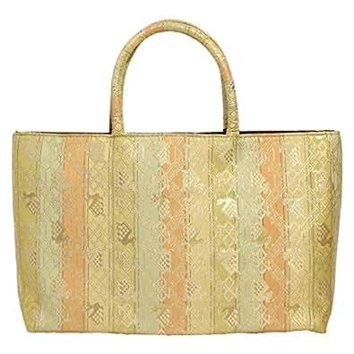 名物裂 金襴 02(A) 和装 和柄 着物 ( きもの / キモノ ) 用 フォーマル ( 礼装 ) バッグ かばん 日本製生地   A4 OK   (A)