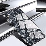IPhone 6S 4.7インチケース、iPhone 6スリムケース、SevenPandaキラキラシーシェル模様ハードハードソフトTPUバンパー保護ケース対応iPhone 6 / 6S 4.7インチ - ブラック