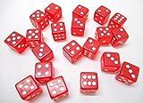 (20個) 6面 ダイス サイコロ ゲーム すごろく 麻雀 マージャン メンテナンスウェットシートセット