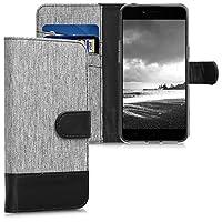 kwmobile Oppo A71 (2018) 用 ケース - スマホカバー 手帳型 PUレザー - 携帯 保護ケース カードポケット スタンド 付き
